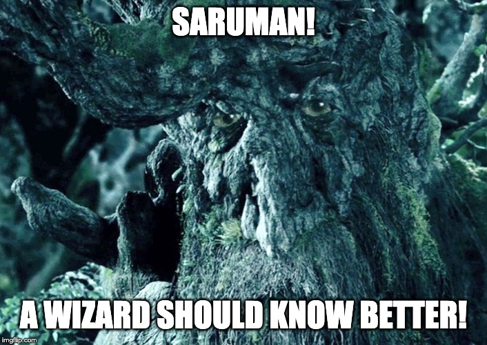 Saruman! A wizard should know better!