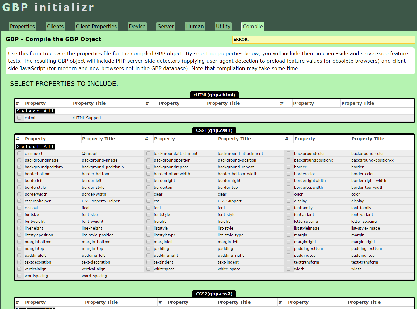 Green Boilerplate Initializr Compiler