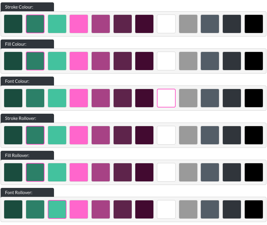 Image of the CTA option, all colours