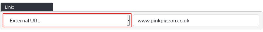 Image of the CTA option, external url