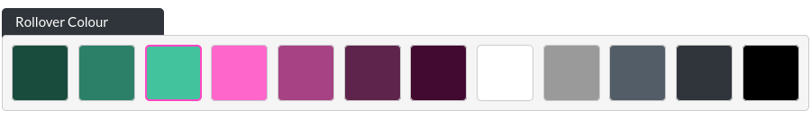 Image of the CTA option, rollover colour