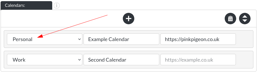 Image of the calendar - hotel bookings module, showing the calendar selection in website builder