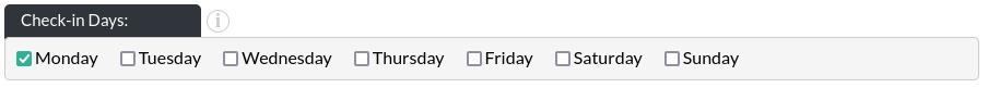 Image of the calendar - hotel bookings module, showing the checkin days in website builder