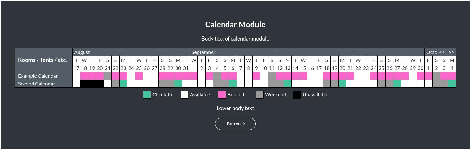 Image of the calendar module online