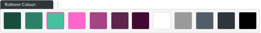 Image of the bio module social icons rollover colour in the website builder