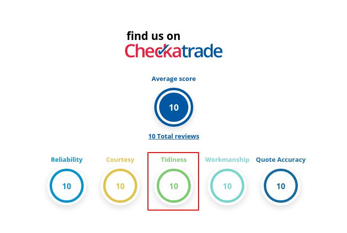 Image of the checkatrade tidiness input