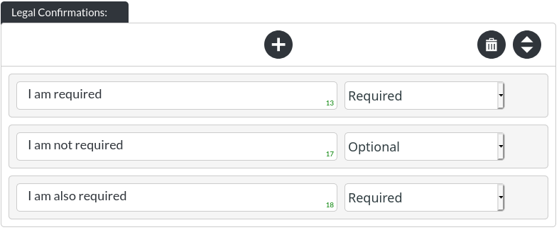 Image of the email signup module's legal confirmations