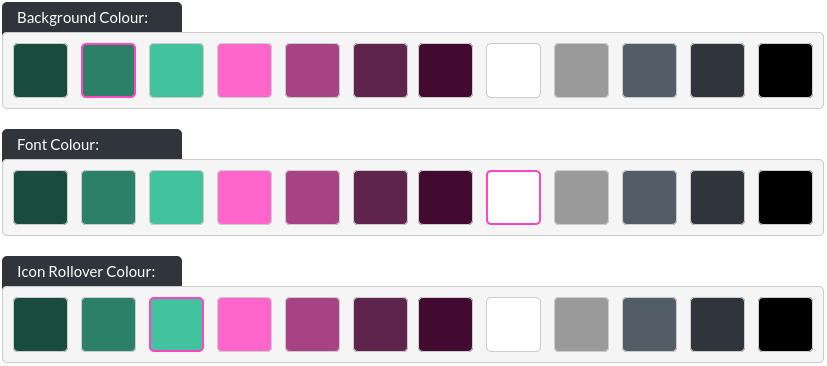Image of the find us module colour options