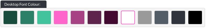 Image of the header overlay desktop font colour option