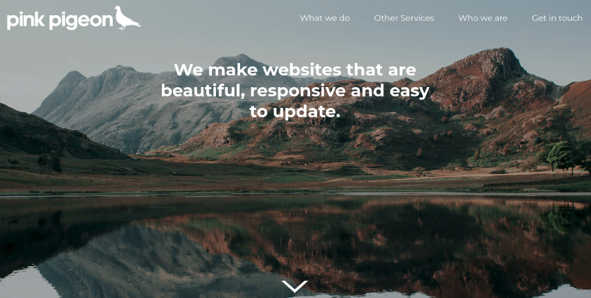 Image of the header overlay top margin option - 50px
