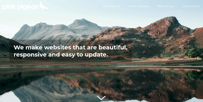 Image of the header overlay tint area behind text