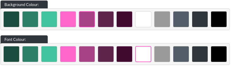 Image of the standard colours