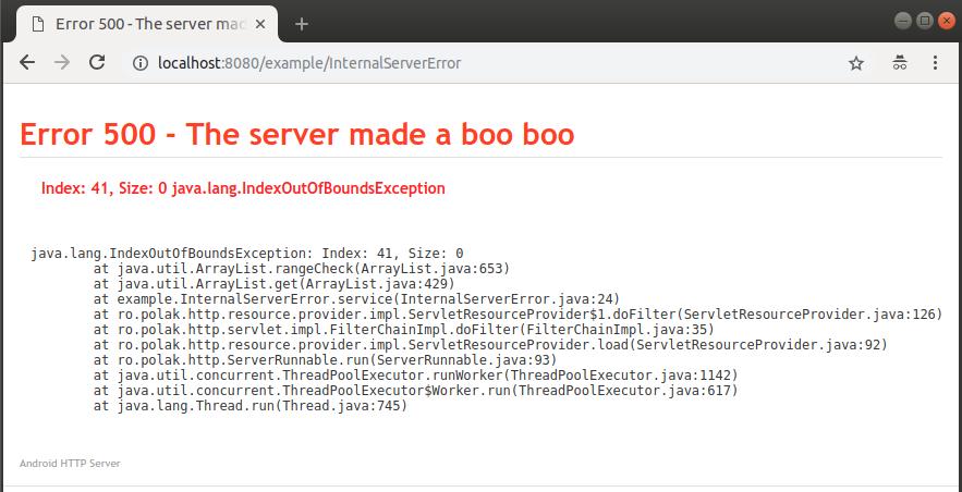 Servlet error 500