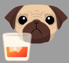 Bourbonpug logo