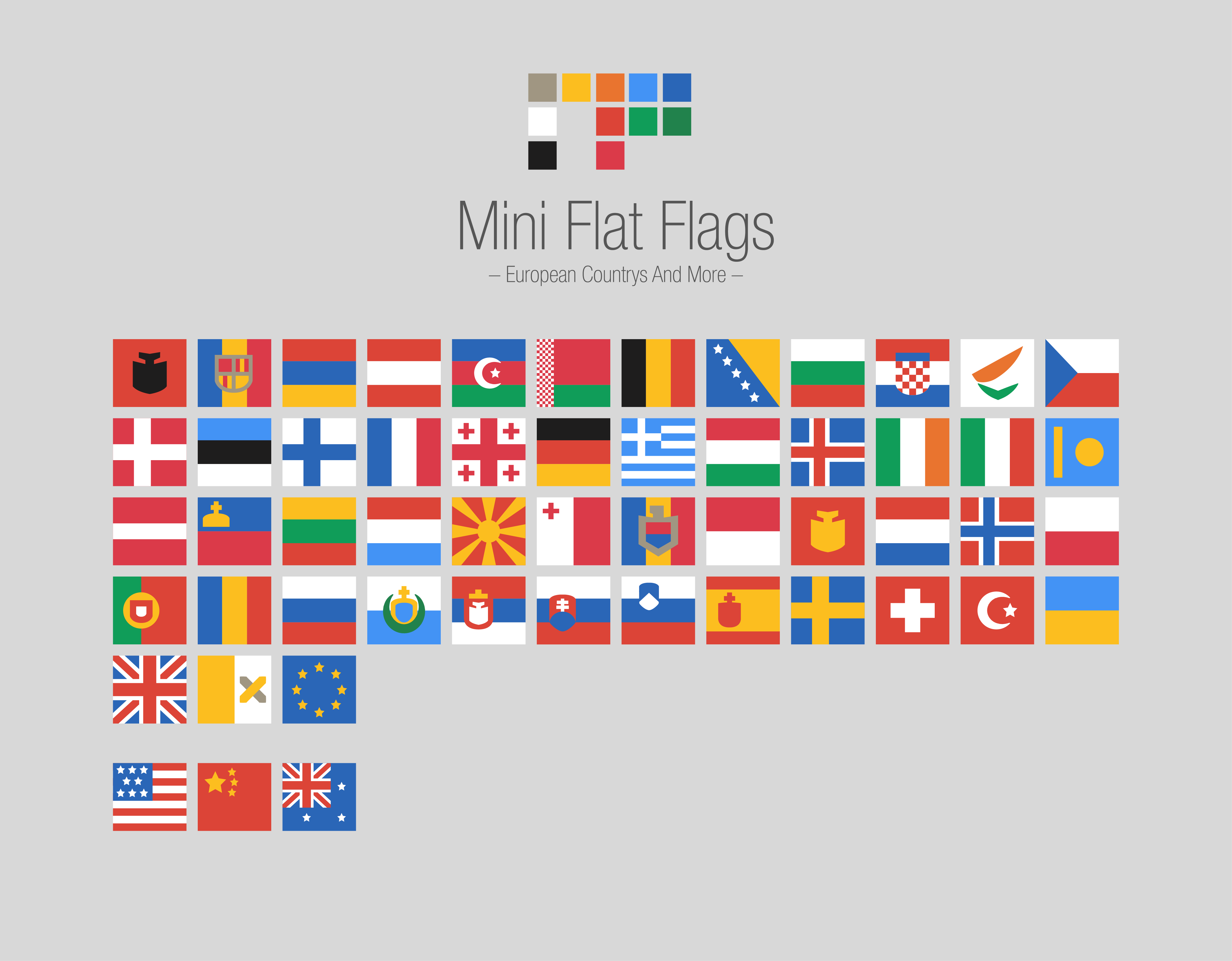 Screenshot of the icon set Mini Flat Flags