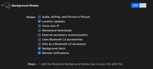 background modes