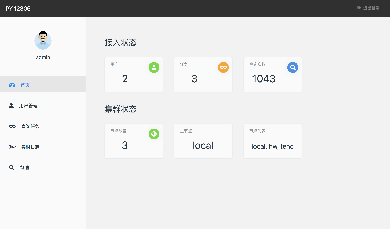 Web 管理页面图片