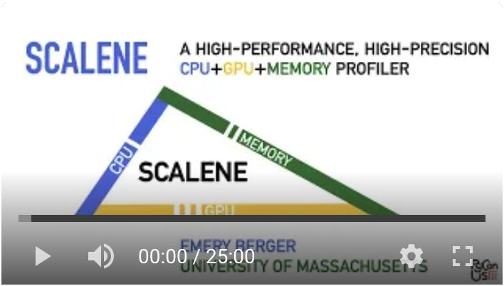 Scalene presentation at PyCon 2021