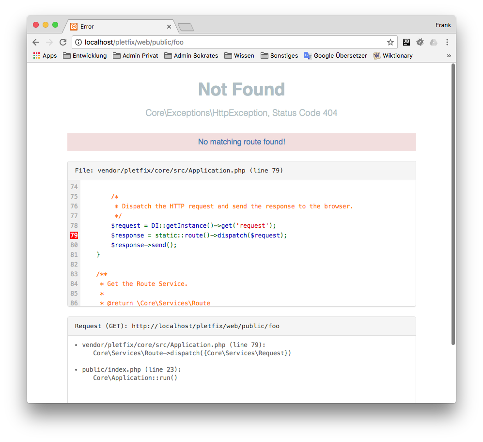Pretty Error Page