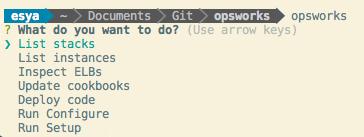Screenshot image OpsWorks CLI