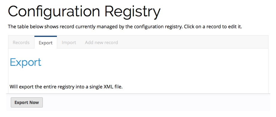 How to export the entire registry