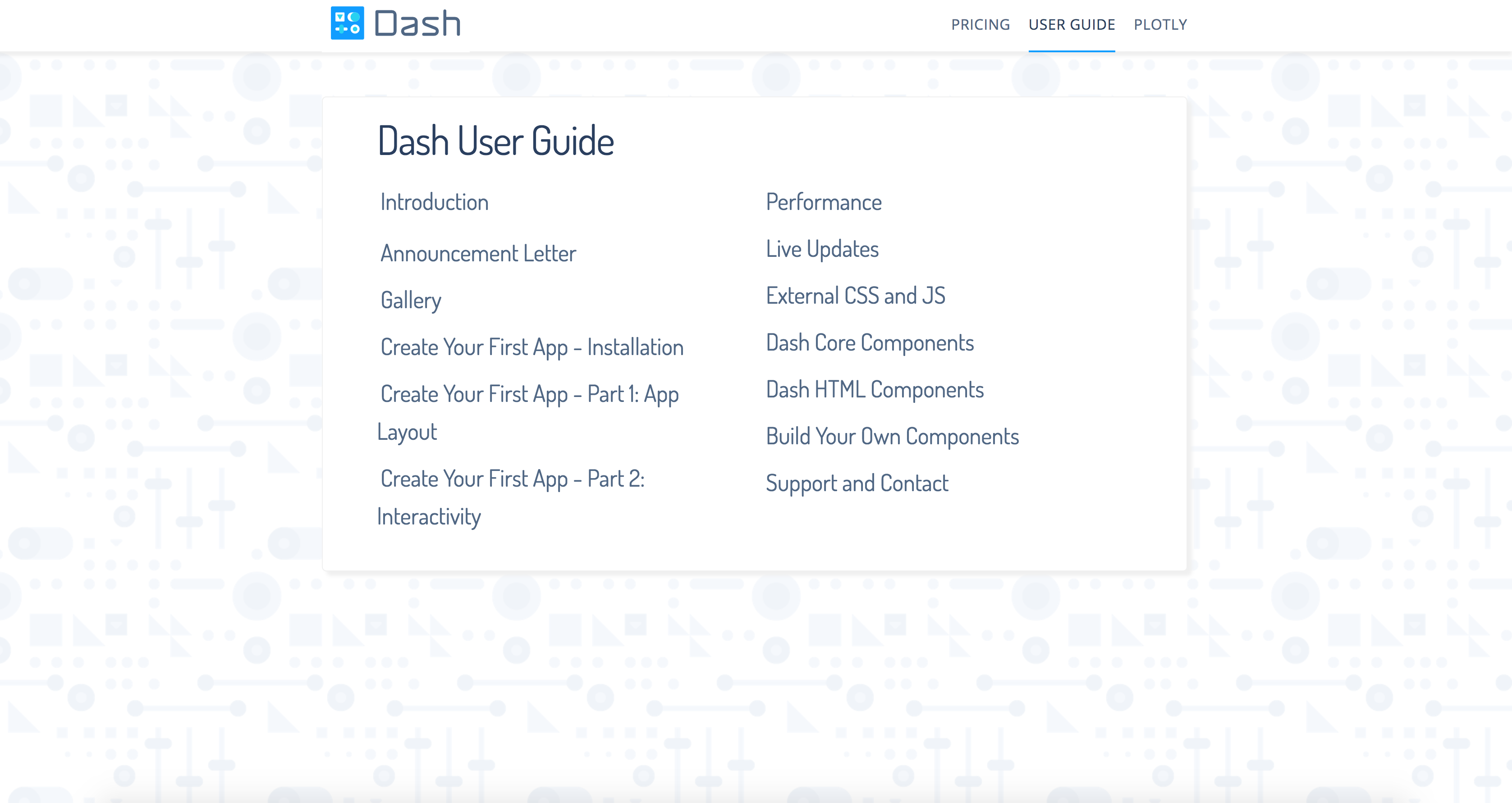dash user guide and documentation dash by plotly