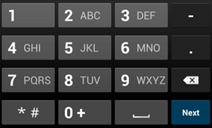 phone number keyboard