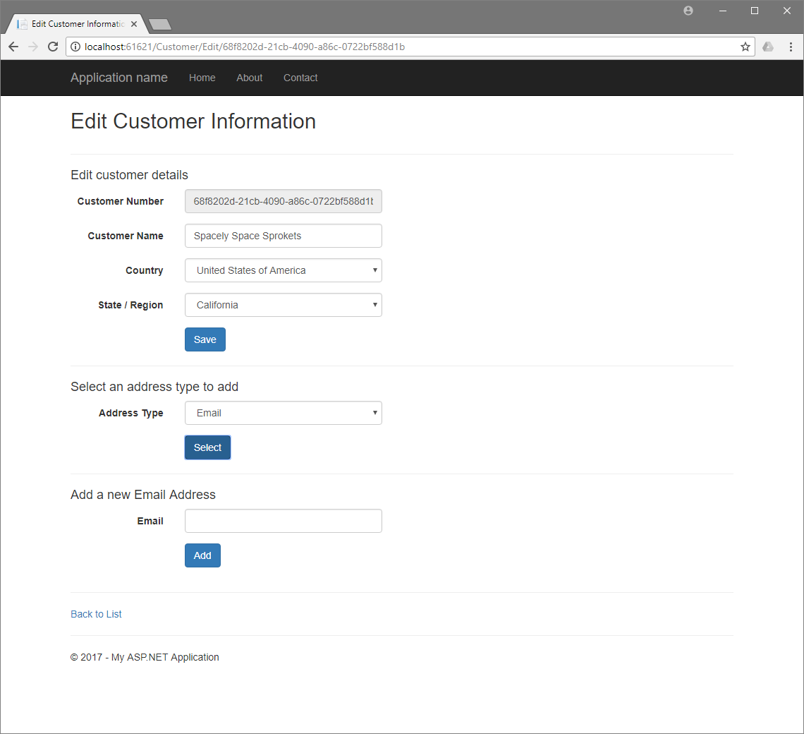 Blip Ajax Customer Edit E-Mail Address