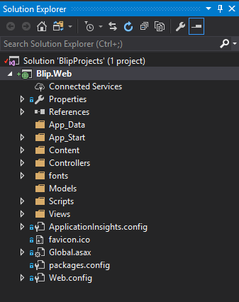 Visual Studio solution explorer single project