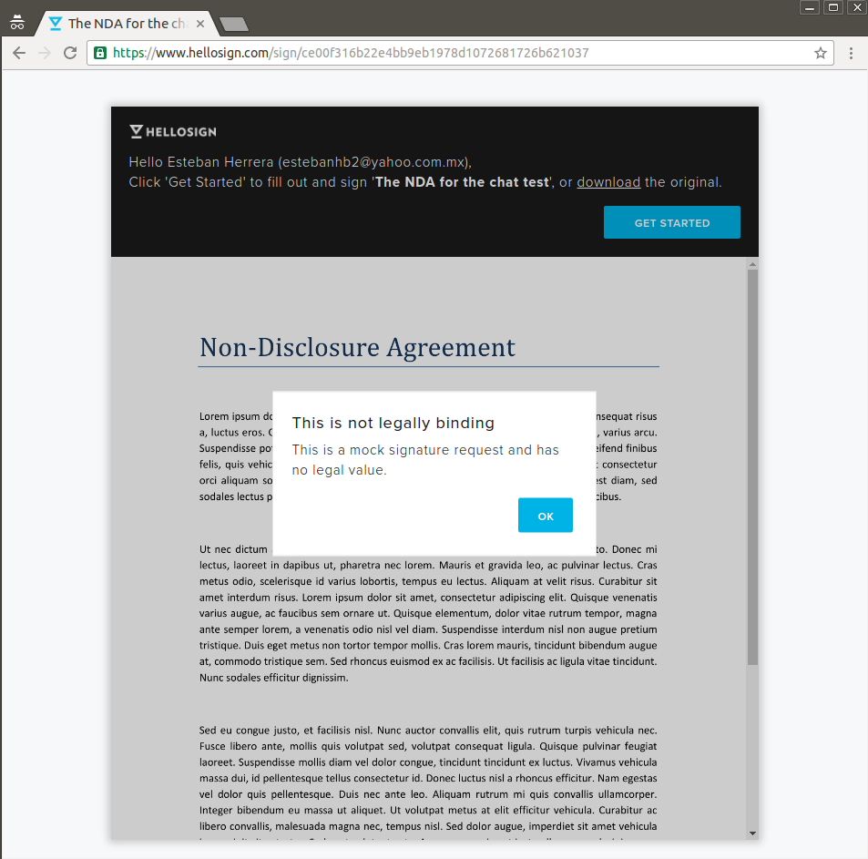 How to build a chat with e-signatures in Pusher, HelloSign, and
