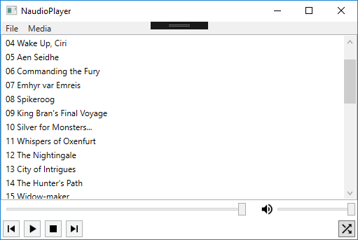 Our finalized media player