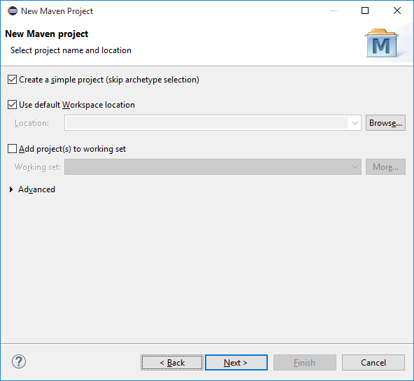 Create new maven project 02
