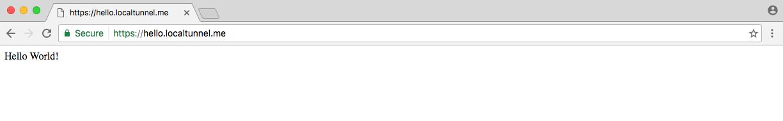 localtunnel browser url