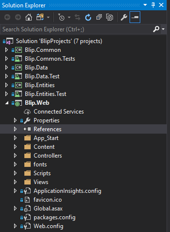 Visual Studio new ASP.NET Web Application