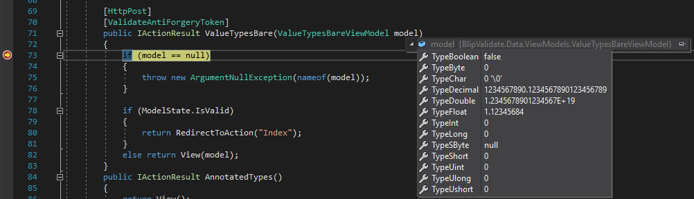 visual studio property inspector for value types