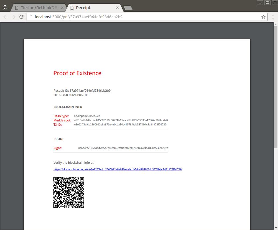 PDF receipt