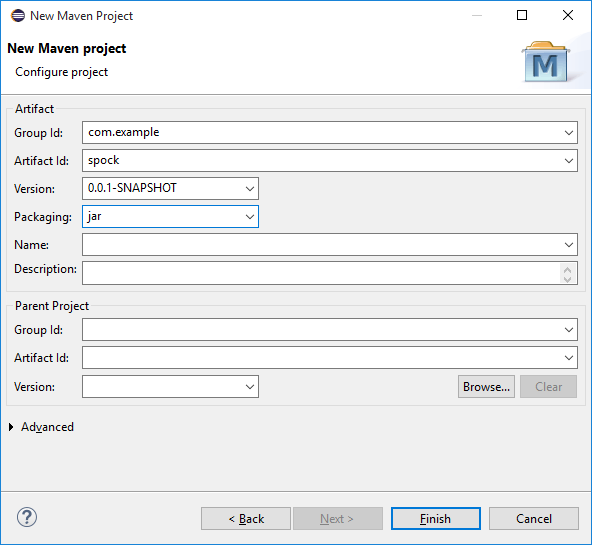Create new maven project 03