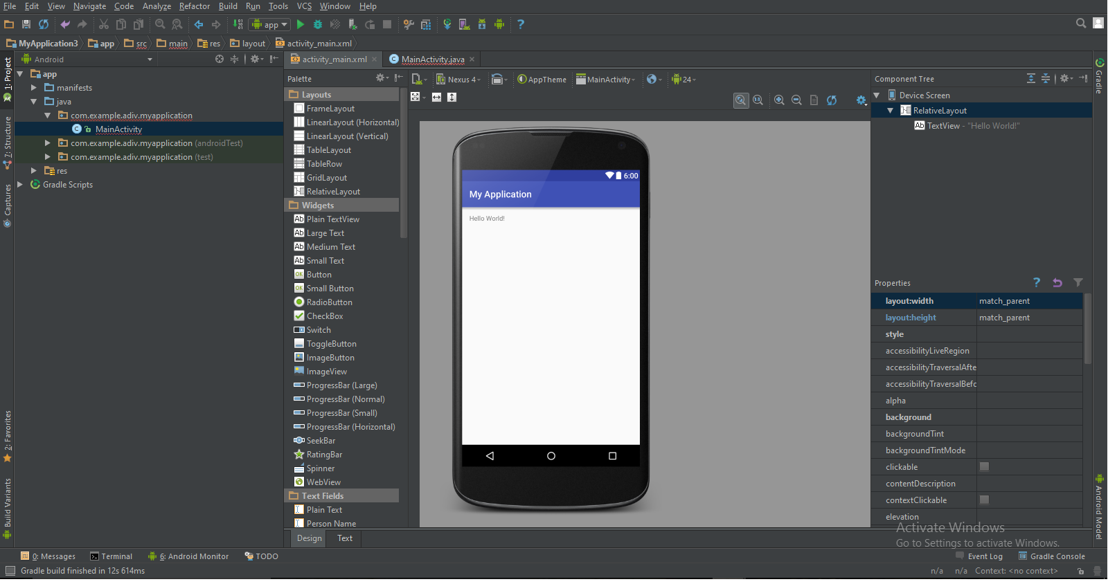 Android Studio new activity