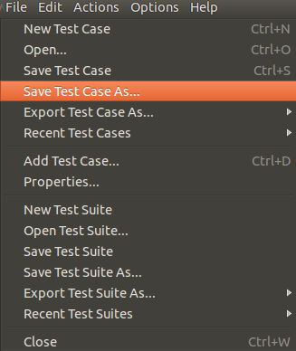 Save test case