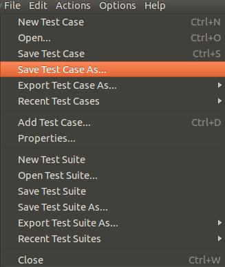 Save test case