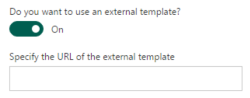 External template settings