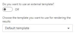 Internal template settings