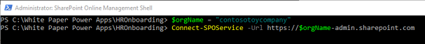 Connect SharePoint Online Service Command