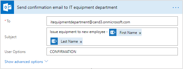Change the email of IT equipment department