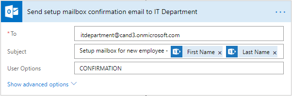 Change the email of IT department
