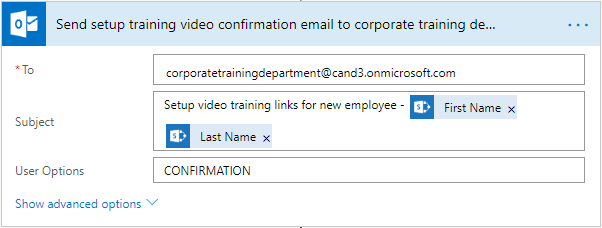 Change the email of Corporate training department