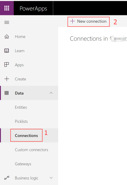 Power BI create new connection