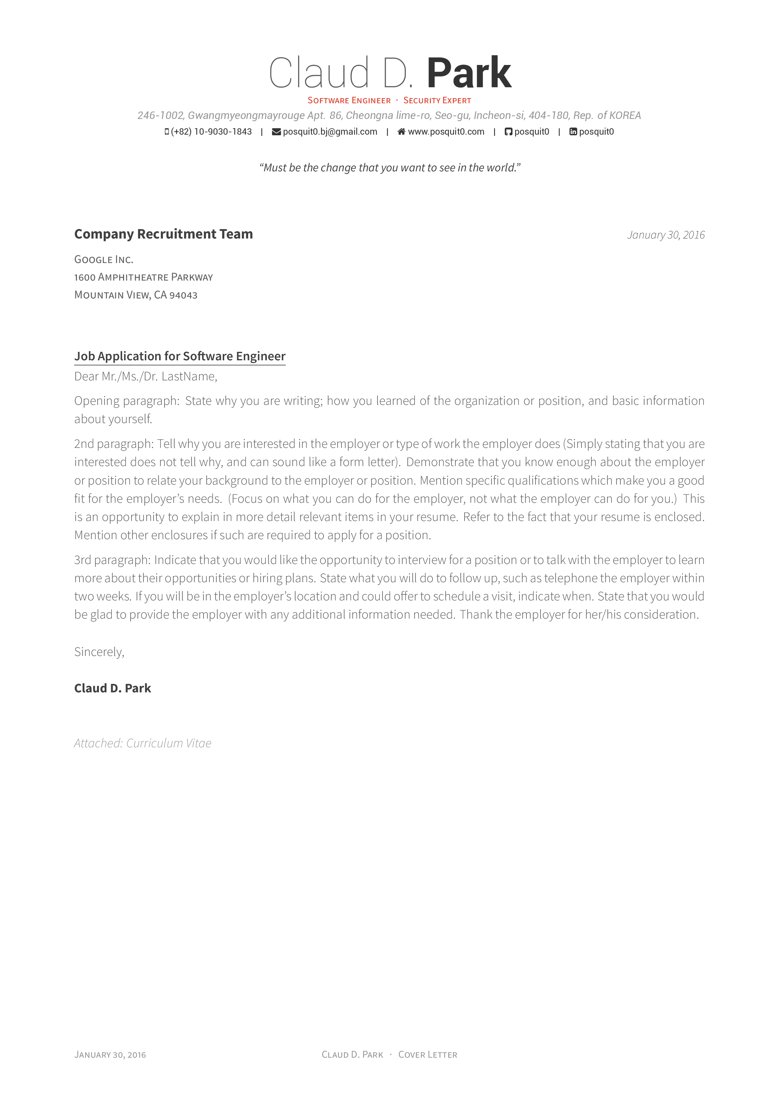 cover lettertraditional - Format For Resume Cover Letter