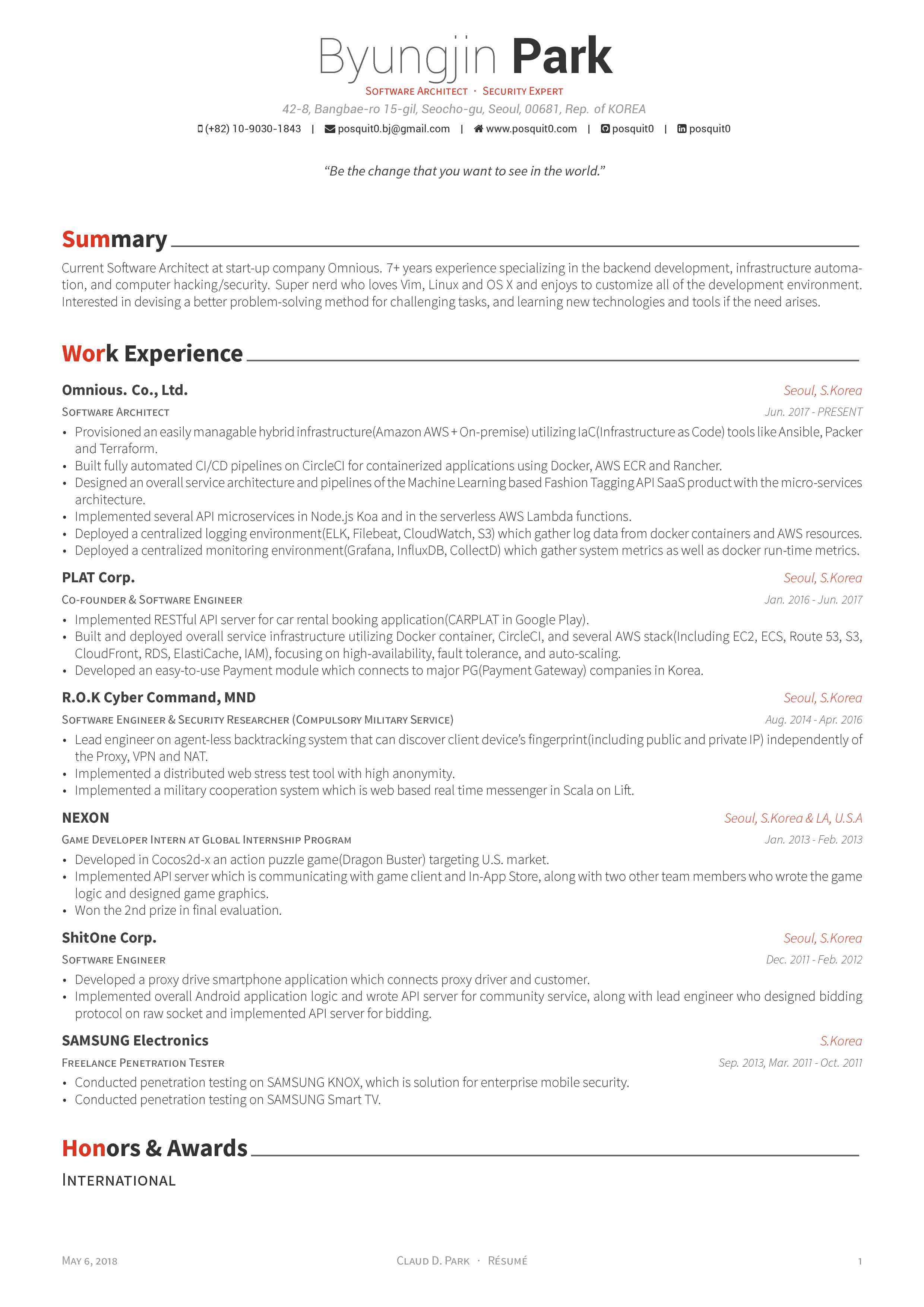 resume What Is Cv Resume github posquit0awesome cv awesome is latex template for