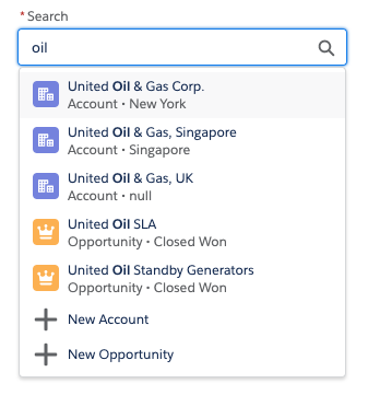 Lookup with dropdown open